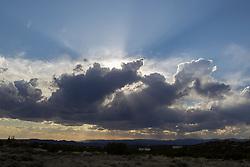 beautiful sunset in Santa Fe, New Mexico