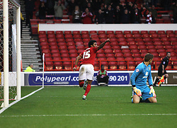 Ryan Mendes of Nottingham Forest celebrates scoring his sides second goal - Mandatory byline: Jack Phillips / JMP - 07966386802 - 19/12/2015 - FOOTBALL - The City Ground - Nottingham, Nottinghamshire - Nottingham Forest v MK Dons - Sky Bet Championship