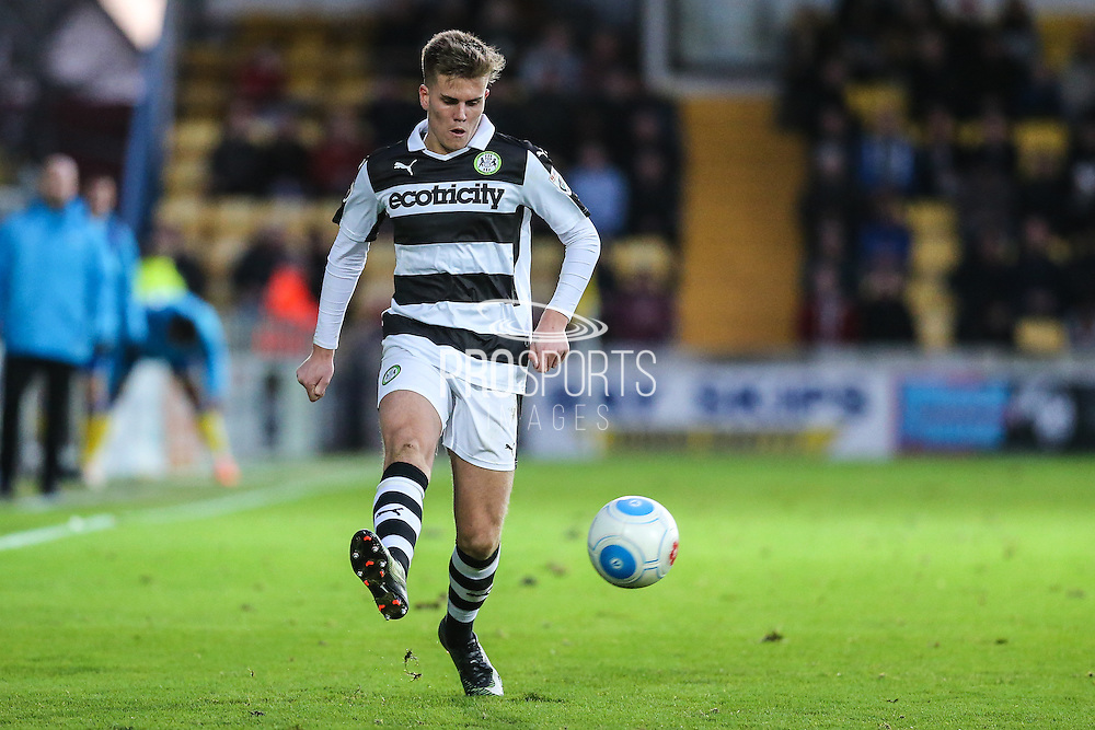 Forest Green Rovers Charlie Cooper(20) passes the ball during the Vanarama National League match between Torquay United and Forest Green Rovers at Plainmoor, Torquay, England on 26 December 2016. Photo by Shane Healey.