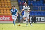 Dundee&rsquo;s James Vincent and St Johnstone&rsquo;s Danny Swanson - St Johnstone v Dundee, Ladbrokes Scottish Premiership at McDiarmid Park, Perth. Photo: David Young<br /> <br />  - &copy; David Young - www.davidyoungphoto.co.uk - email: davidyoungphoto@gmail.com
