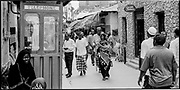 Busy alley, Island of Lamu, Kenya, July, 2002