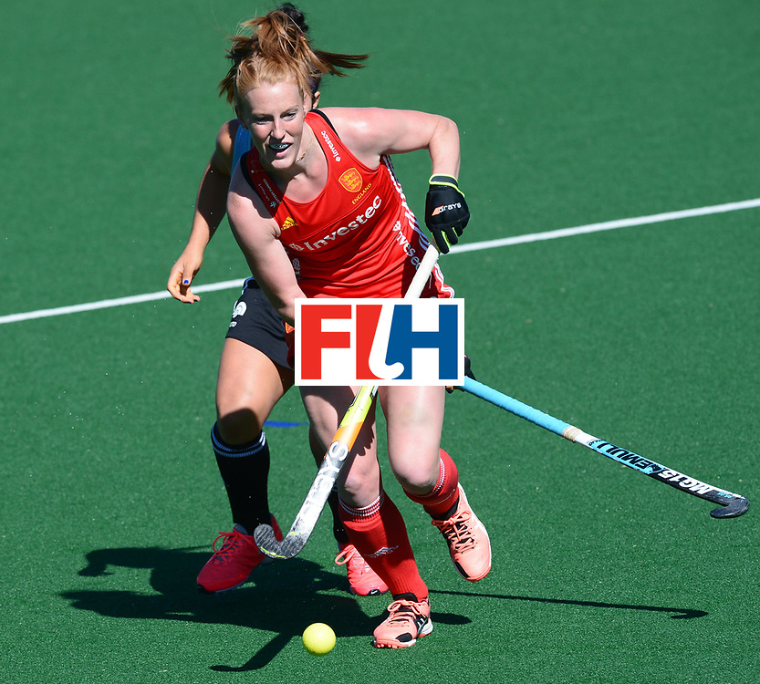JOHANNESBURG, SOUTH AFRICA - JULY 23: Nicola White of England during day 9 of the FIH Hockey World League Women's Semi Finals 3rd-4th place match between England and Argentina at Wits University on July 23, 2017 in Johannesburg, South Africa. (Photo by Getty Images/Getty Images)