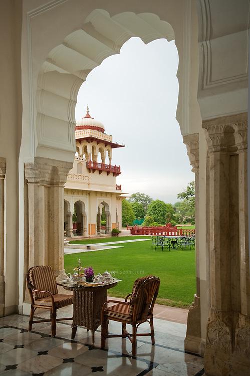 The Verandah at the gracious Rambagh Palace Hotel, Bhawani Singh Rd, +91 141 221 1919, www.tajhotels.com