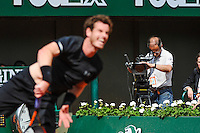 illustration camera  - 28.05.2015 - Jour 5 - Roland Garros 2015<br /> Photo : Nolwenn Le Gouic / Icon Sport