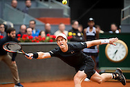 Andy Murray during the final of the Madrid Open at Manzanares Park Tennis Centre, Madrid<br /> Picture by EXPA Pictures/Focus Images Ltd 07814482222<br /> 08/05/2016<br /> ***UK &amp; IRELAND ONLY***<br /> EXPA-ESP-160509-0096.jpg