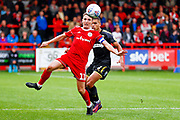 Accrington Stanley midfielder Sean McConville (11) in action during the EFL Sky Bet League 1 match between Accrington Stanley and AFC Wimbledon at the Fraser Eagle Stadium, Accrington, England on 22 September 2018.