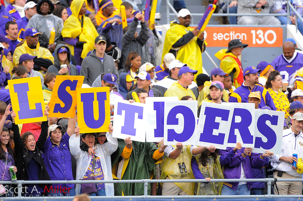 Jan. 1, 2010; Orlando, FL, USA; LSU Tigers fans show support for their team in the Tigers 19-17 loss to the Penn State Nittany in the 2010 Capital One Bowl at the Citrus Bowl. ..©2010 Scott A. Miller