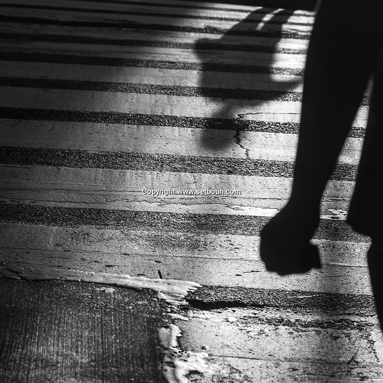 New York  pedestrians shadows in the streets