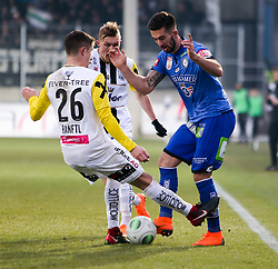 03.03.2018, TGW Arena, Pasching, AUT, 1. FBL, LASK Linz vs SK Puntigamer Sturm Graz, 25. Runde, im Bild v.l. Reinhold Ranftl (LASK Linz), Marvin Potzmann (SK Puntigamer Sturm Graz) // during the Austrian Football Bundesliga 25th Round match between LASK Linz und SK Puntigamer Sturm Graz at the TGW Arena in Pasching, Austria on 2018/03/03. EXPA Pictures © 2018, PhotoCredit: EXPA/ Roland Hackl
