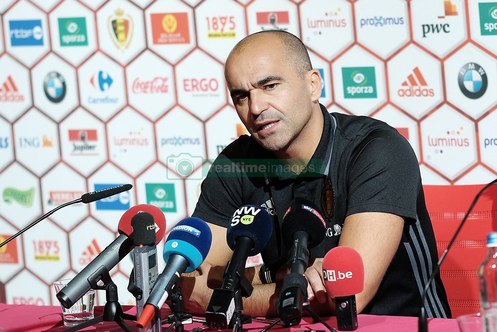 October 4, 2017 - Tubize, BELGIUM - Belgium's head coach Roberto Martinez pictured during a press conference of Belgian national soccer team Red Devils, Wednesday 04 October 2017, in Tubize. The team is preparing for World Cup qualification games against Bosnia on Saturday, and Cyprus on Monday. BELGA PHOTO BRUNO FAHY (Credit Image: © Bruno Fahy/Belga via ZUMA Press)