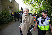 Dame Vivienne Westwood drives at tank  with the &quot;Nanas against fracking&quot;to make &lsquo;Chemical Attack&rsquo; on David Cameron&rsquo;s Witney Constituency Home &ndash; Friday 11th September 2015<br /> <br /> <br /> Photos Ki Price