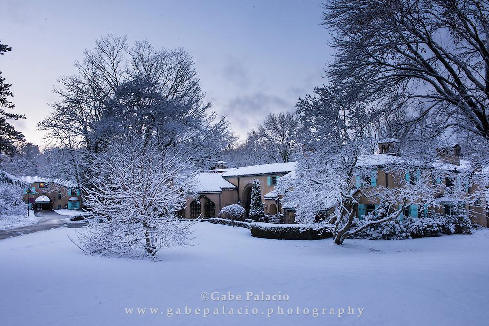 A snowy winter day at Caramoor in Katonah New York<br /> photo by Gabe Palacio