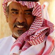 Portrait of a Saudi, Syria. Portrait d'un Saoudien, Syrie.