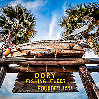 Dory Fishing Fleet market sign Newport Beach, California picture. Dory Fishing Fleet market is located on Balboa Peninsula in Orange County Southern California.