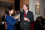 LINDA HEATHCOTE-AMORY; CHARLES MOORE, Literary charity First Story fundraising dinner. Cafe Anglais. London. 10 May 2010. *** Local Caption *** -DO NOT ARCHIVE-© Copyright Photograph by Dafydd Jones. 248 Clapham Rd. London SW9 0PZ. Tel 0207 820 0771. www.dafjones.com.<br /> LINDA HEATHCOTE-AMORY; CHARLES MOORE, Literary charity First Story fundraising dinner. Cafe Anglais. London. 10 May 2010.