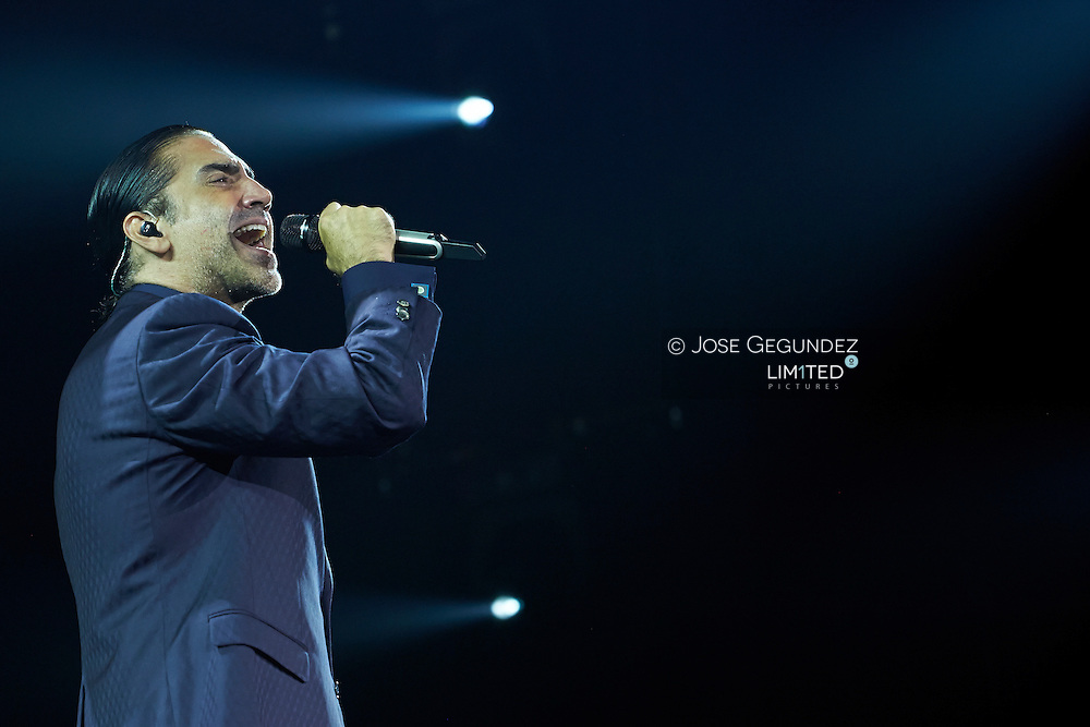Alejandro Fernandez performs at Palacio de los Deportes on July 19, 2014 in Madrid
