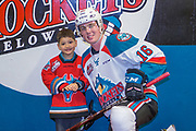 KELOWNA, CANADA - MARCH 07:  Home Hardware Stick Boy with Kole Lind #16 of the Kelowna Rockets at the Kelowna Rockets game on March 07, 2018 at Prospera Place in Kelowna, British Columbia, Canada.  (Photo By Cindy Rogers/Nyasa Photography,  *** Local Caption ***