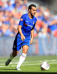 "Chelsea's Pedro during the Community Shield match at Wembley Stadium, London. PRESS ASSOCIATION Photo. Picture date: Sunday August 5, 2018. See PA story SOCCER Community Shield. Photo credit should read: Adam Davy/PA Wire. RESTRICTIONS: EDITORIAL USE ONLY No use with unauthorised audio, video, data, fixture lists, club/league logos or ""live"" services. Online in-match use limited to 75 images, no video emulation. No use in betting, games or single club/league/player publications."