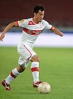 FUSSBALL   EUROPA LEAGUE   SAISON 2012/2013   20.09.2012 VfB Stuttgart - FC Steaua Bukarest Shinji Okazaki (VfB Stuttgart) am Ball