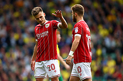 Jamie Paterson of Bristol City low fives with Matty Taylor of Bristol City - Mandatory by-line: Robbie Stephenson/JMP - 23/09/2017 - FOOTBALL - Carrow Road - Norwich, England - Norwich City v Bristol City - Sky Bet Championship