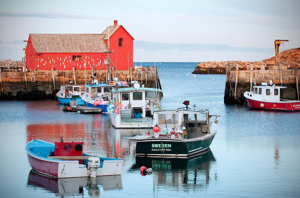 Bradley Wharf in Rockport, Massachusetts.