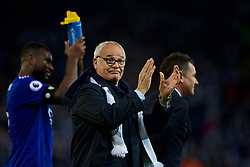 LEICESTER, ENGLAND - Saturday, November 10, 2018: Former Leicester City manager Claudio Ranieri applauds the supporters after the FA Premier League match between Leicester City FC and Burnley FC at the King Power Stadium. (Pic by David Rawcliffe/Propaganda)