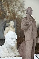 Russie, Moscou, parc des sculptures, statues de Lénine // Russia, Moscou, Sculptures Park, Lenine staue