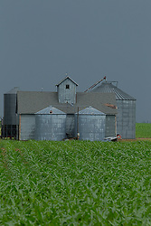 Barn lot complete with silo, grain storage bin, crop dryer and barn<br /> <br /> <br /> HDR (High Dynamic Range) processing applied