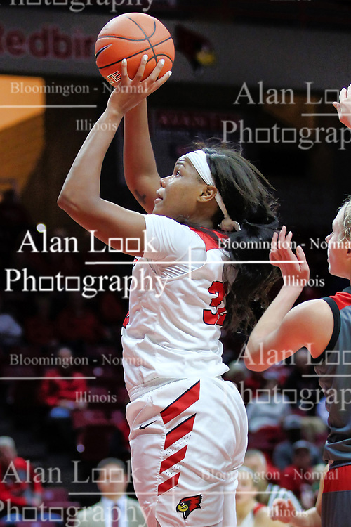 NORMAL, IL - December 16: Simone Goods during a college women's basketball game between the ISU Redbirds and the Maryville Saints on December 16 2018 at Redbird Arena in Normal, IL. (Photo by Alan Look)