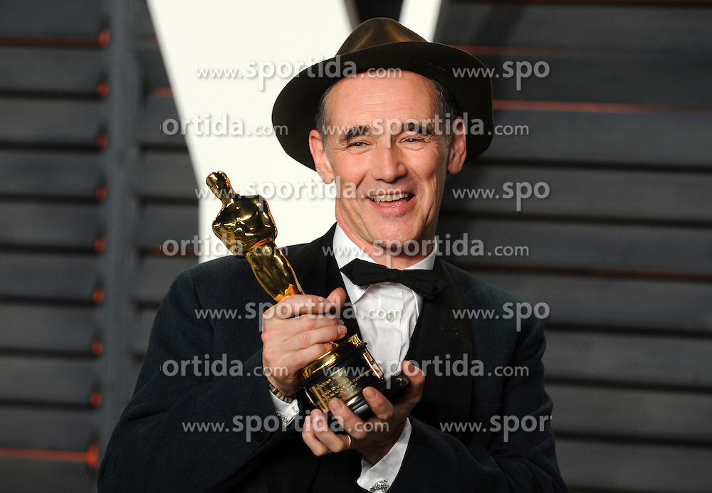 Mark Rylance arrives at the 2016 Vanity Fair Oscar Party Hosted By Graydon Carter at Wallis Annenberg Center for the Performing Arts on February 28, 2016 in Beverly Hills, California. EXPA Pictures © 2016, PhotoCredit: EXPA/ Photoshot/ Dennis Van Tine<br /><br />*****ATTENTION - for AUT, SLO, CRO, SRB, BIH, MAZ only*****