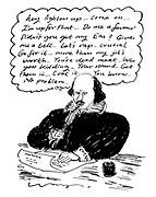 (Shakespeare writing modern catchphrases)