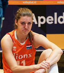 11–01-2020 NED: Semi Final Olympic qualification tournament women Germany - Netherlands, Apeldoorn<br /> First semi final match Germany - Netherlands 3-0 / Anne Buijs #11 of Netherlands