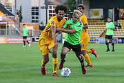 Forest Green Rovers Isaac Pearce(17) battles for the ball during the Pre-Season Friendly match between Torquay United and Forest Green Rovers at Plainmoor, Torquay, England on 10 July 2018. Picture by Shane Healey.