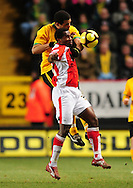 London - Saturday, January 3rd, 2009: Jose Semedo of Charlton Athletic and Darel Russell of Norwich City during the FA Cup Third Round match at The Valley, London. (Pic by Alex Broadway/Focus Images)