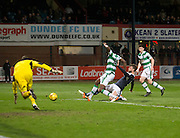 Dundee&rsquo;s Rory Loy comes agonisingly close with an effort which hit the post  - Dundee v Celtic, Ladbrokes Scottish Premiership at Dens Park<br />  <br />  - &copy; David Young - www.davidyoungphoto.co.uk - email: davidyoungphoto@gmail.com