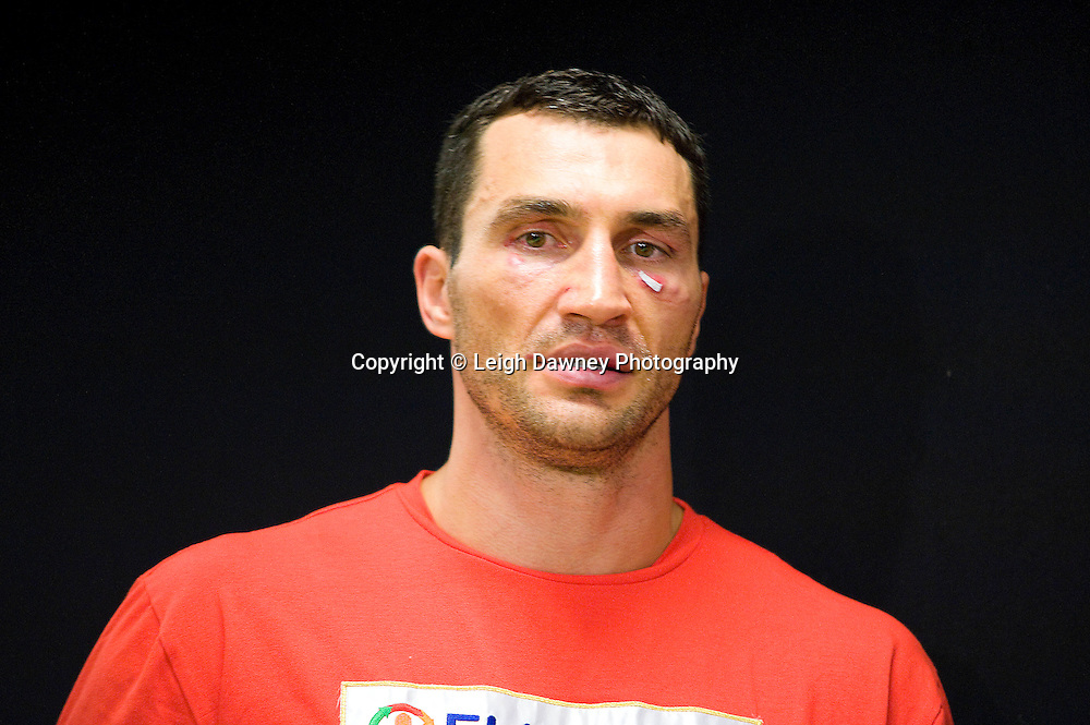Wladimir Klitshcko at press conference following the World Heavyweight Title fight with David Haye at Imtech Arena, Hamburg, Germany. 03.07.11. Photo credit: Leigh Dawney 2011