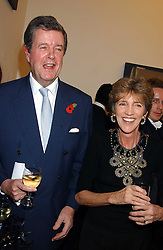 LORD CHARLES and LADY JANE SPENCER-CHURCHILL at a private view of paintings by Rosita Marlborough (The Duchess of Marlborough) held at Hamiltons gallery, Carlos Place, London W1 on 9th November 2005.<br />