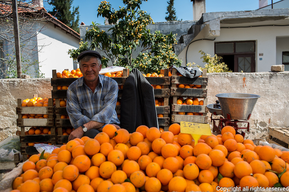 Oranges for sale at Datca Saturday Market
