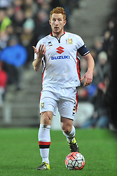 DEAN LEWINGTON  MK DONS,   MK Dons v Northampton Town, FA Cup Emirates FA Cup Third round Repay, Stadium MK, Tuesday 19th January 2016