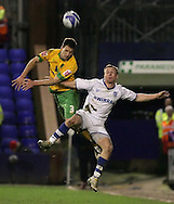 Tranmere - Friday, April 2nd, 2010: Adam Drury of Norwich City in action against Craig Curran of Tranmere Rovers during the Coca Cola League One match at Prenton Park, Tranmere. (Pic by Michael Sedgwick/Focus Images)