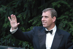 HRH The DUKE OF YORK at Sir David & Lady Carina Frost's annual summer party held in Carlyle Square, London on 6th July 2004.