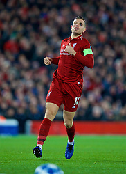 LIVERPOOL, ENGLAND - Tuesday, December 11, 2018: Liverpool's captain Jordan Henderson during the UEFA Champions League Group C match between Liverpool FC and SSC Napoli at Anfield. (Pic by David Rawcliffe/Propaganda)