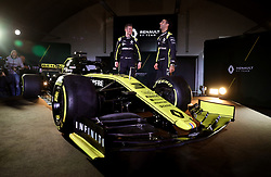 Drivers Niko Hulkenberg (left) and Daniel Ricciardo during the Renault F1 Team 2019 season launch at Whiteways Technical Centre, Oxford.