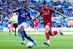 Tommy Rowe of Bristol City takes on Leandro Bacuna of Cardiff City - Mandatory by-line: Robbie Stephenson/JMP - 10/11/2019 -  FOOTBALL - Cardiff City Stadium - Cardiff, Wales -  Cardiff City v Bristol City - Sky Bet Championship