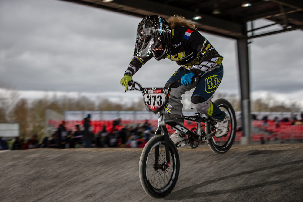#373 (FRANCINEAU Eloise) FRA at the 2018 UCI BMX Superscross World Cup in Saint-Quentin-En-Yvelines, France.