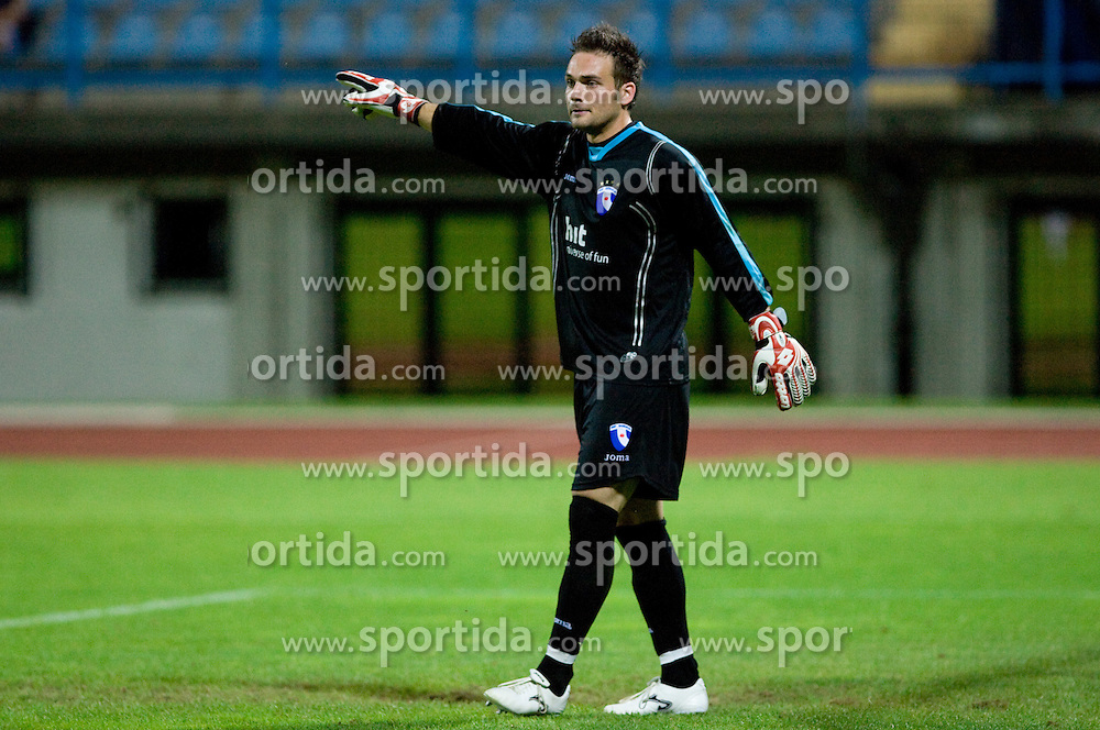 Goalkeeper of Gorica Vasja Simcic at 1st football match of 2nd preliminary Round of UEFA Europe League between ND Gorica and FC Lahti, on July 16 2009, in Nova Gorica, Slovenia. (Photo by Vid Ponikvar / Sportida)