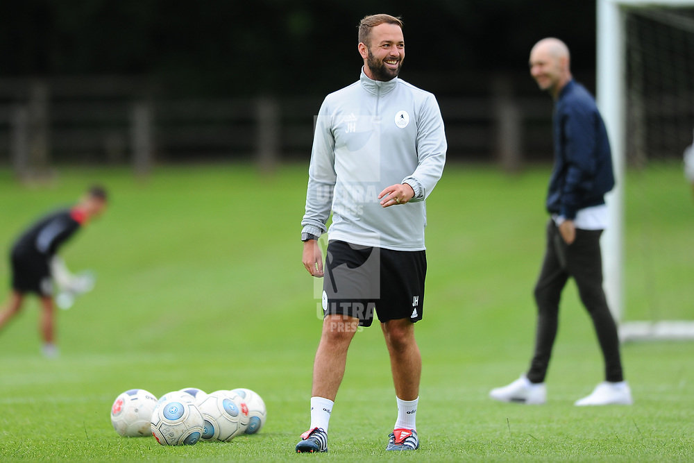 TELFORD COPYRIGHT MIKE SHERIDAN Jamie Haynes during a training session as AFC Telford United return to training at Lilleshall National Sports Centre on Saturday, July 4, 2020.<br /> <br /> <br /> Picture credit: Mike Sheridan/Ultrapress<br /> <br /> MS202021