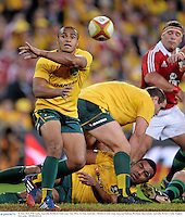 22 June 2013; Will Genia, Australia. British & Irish Lions Tour 2013, 1st Test, Australia v British & Irish Lions, Suncorp Stadium, Brisbane, Queensland, Australia. Picture credit: Stephen McCarthy / SPORTSFILE