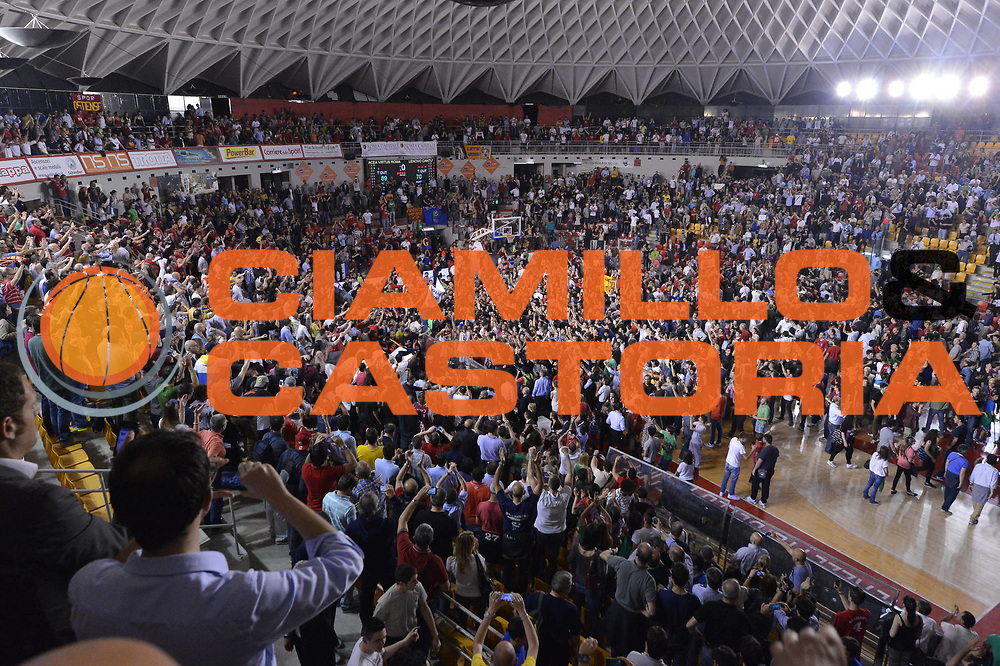DESCRIZIONE : Roma Lega A 2012-2013 Acea Roma Lenovo Cantu playoff semifinale gara 7<br /> GIOCATORE : Panoramica<br /> CATEGORIA : Tifosi Panoramica<br /> SQUADRA : Acea Roma<br /> EVENTO : Campionato Lega A 2012-2013 playoff semifinale gara 7<br /> GARA : Acea Roma Lenovo Cantu<br /> DATA : 06/06/2013<br /> SPORT : Pallacanestro <br /> AUTORE : Agenzia Ciamillo-Castoria/GiulioCiamillo<br /> Galleria : Lega Basket A 2012-2013  <br /> Fotonotizia : Roma Lega A 2012-2013 Acea Roma Lenovo Cantu playoff semifinale gara 7<br /> Predefinita :