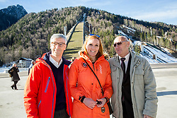Jernej Pikalo, Petra Majdic and Bogdan Gabrovec at official opening of the new Nordic centre Planica, on December 11, 2015 in Planica, Slovenia. Photo by Vid Ponikvar / Sportida